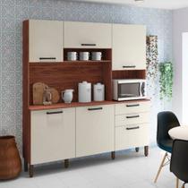 Cozinha Compacta 6 Portas 2 Gavetas Ferrara Kit Paraná
