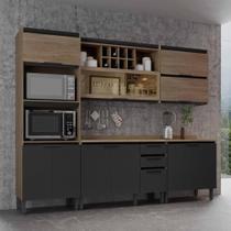 Cozinha Compacta Thela Hibisco 3 Peças P/ Forno e Micro Aveiro/Grafite