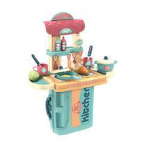 Cozinha Infantil Completa Kit Maleta 3 Em 1 Chef Com Panelinhas E Comidinhas - Mega Compras