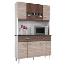 Cozinha Kit Manu 8 Portas Amêndoa Capuccino - Poquema