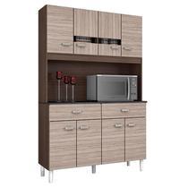 Cozinha Kit Manu 8 Portas Capuccino Amêndoa - Poquema