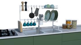 Cozinha Modular Sobre Pia Escorredor de Louça Porta Talheres