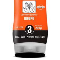 Creme Protetor para Mãos - Luva Química - Grupo 3 (Água - Óleos - Pintura) 200 GR Bisnaga NUTRIEX