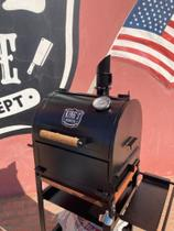 Defumador Smoker Sugar King's Barbecue Pintura Texturizada (novo)