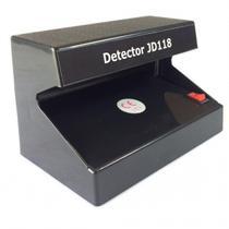 Detector De Notas Falsa Identificador com Luz UV JD118 Bivolt