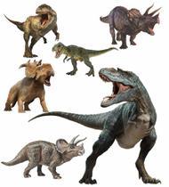 Display festa Dinossauro 1 Totem chão e 5 Displays 22cm
