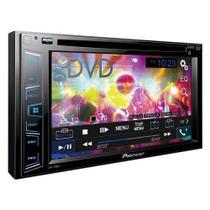 """DVD Automotivo Pioneer AVH-298BT 2-DIN Tela 6.2"""", USB, Bluetooth, Entrada Câmera de Ré"""