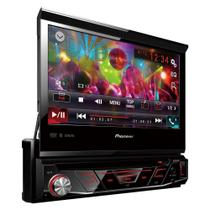 "DVD Automotivo Pioneer AVH-4880BT 1-DIN Tela Retrátil 7"", USB, Bluetooth"