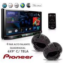 Dvd Player 2-Din AVH-X5780TV Tv Digital Bluetooth Usb Mixtrax + Alto Falante Quadriaxial 6x9''