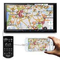DVD Player Automotivo Pioneer AVH-A4180TV 2 Din Tela 7 Pol Bluetooth Espelhamento TV Digital Mixtrax