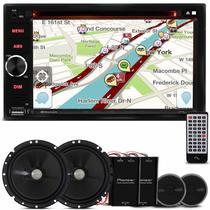 "DVD Player Multilaser Evolve Light GP321 2 Din 6.2"" + Kit 2 Vias Pioneer TS-C170BR 6"" 120W RMS"