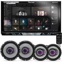 """DVD Player Pioneer AVH-X598TV 2 Din 7"""" + Par Alto Falantes Pioneer 5"""" e 6"""" 200W RMS"""