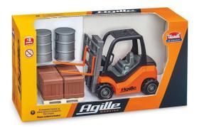 Empilhadeira de Brinquedo Miniatura Agille Working C/ Acessórios - Usual Brinquedos