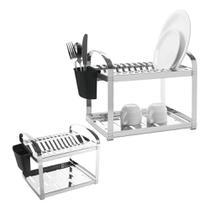 Escorredor de pratos inox capacidade p/ 12 pratos - brinox