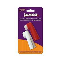 Escova de Dente com Dedeira para Cachorro Jambo com 2 un