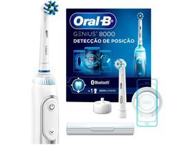 Escova de Dente Elétrica Recarregável Oral-B - Genius 8000 com Estojo de Viagem com Refil