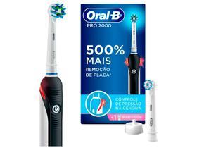 Escova de Dente Elétrica Recarregável Oral-B - Pro 2000 2 Refis