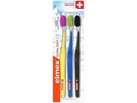Escova de Dente Elmex Ultra Soft 3 Unidades