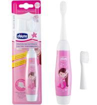 Escova de dentes eletrica infantil rosa - chicco
