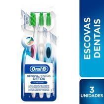 Escova Dental Oral-B Gengiva Detox Ultrafino Extra Macia Cores Sortidas 3 Unidades