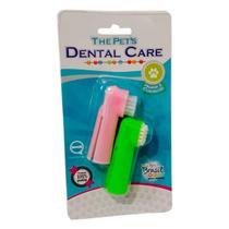 Escova Dente Com 2 Unidades Dedeira Para Cães E Gatos