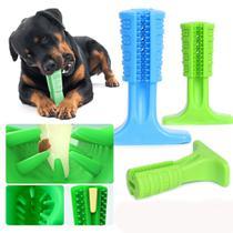 Escova Dente Mordedor Canino Cachorro Pet Limpeza Bucal