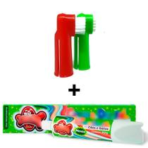 Escova Dentes Para Cachorro E Pasta Dental Kit Higiene Pet