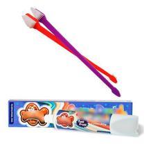Escova Dentes Para Cachorro E Pasta Dental Pet Escova Dupla