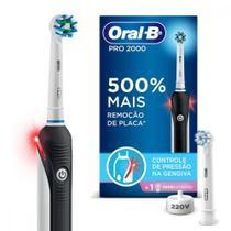 Escova Elétrica Recarregável Pro 2000 Sensi Ultrafino Oral-B + 1 Refil Sensi Ultrafino