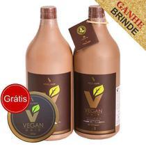 Escova Progressiva Biotina 100% Orgânica Vegan Hair-2x1litro