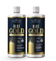 Escova Progressiva Salvatore Blue Gold Sem Formol 2x1 Litro