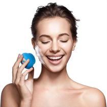 Escova Sônica para Limpeza Facial Bella Mini Multilaser Recarregável Azul - HC185