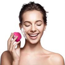 Escova Sônica para Limpeza Facial Bella Mini Multilaser Recarregável Rosa - HC183