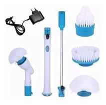 Esfregão Escova De Limpeza Vassoura Elétrica Recarregável