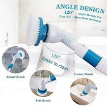 Esfregão Escova Elétrica De Limpeza Casa Recarregável Bivolt