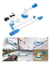 Esfregão Escova Limpeza Vassoura Elétrica Usb Recarregável
