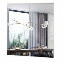 Espelho Quadrado Mercury Extra Grande cor Off White 75 cm (LARG) - 57973