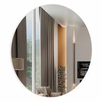 Espelho Redondo Lunes Extra Grande cor Off White 75 cm (DIAM) - 57969