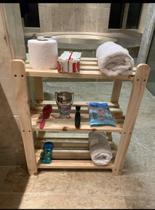 Estante 3 Prateleiras Multiuso Porta Objetos Vasos Plantas, Para seu banheiro, Sala, Cozinha Totalmente de madeira!