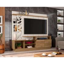 Estante Home Theater para TV até 65 Polegadas Sala de Estar Vivaz Nature/Off White - Frade Movelaria