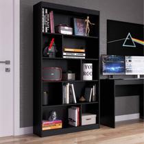 Estante para Livros 4 Prateleiras Home Office Espresso Móveis Onix TX