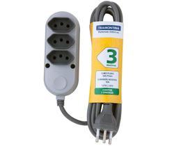 Extensão Elétrica 3m 3 Tomadas Tramontina