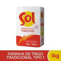 Farinha de Trigo Tradicional Sol 1kg