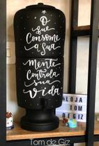 Filtro de barro com Lettering