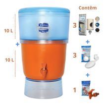 Filtro de Barro para Água São João Advance Plus 10 Litros 3 Velas 3 Boias - Stéfani