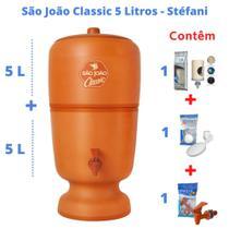 Filtro de Barro para Água São João Classic 5 Litros 1 Vela - Stéfani - Cerâmica Stéfani