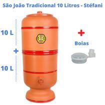 Filtro de Barro para Água São João Tradicional 10 Litros 3 Velas + 3 Boias - Cerâmica Stéfani