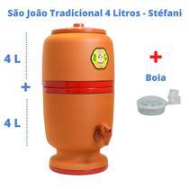 Filtro de Barro para Água São João Tradicional 4 Litros 1 Vela + Boia - Cerâmica Stéfani