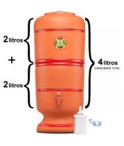 Filtro de Barro São Pedro 2 Litros com 1 Boia e 1 Vela Tradicional
