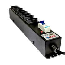 Filtro de Linha com Disjuntor 20A 8 Tomadas Bivolt Gabinete Metálico Profissional Cabo de 1 Metro